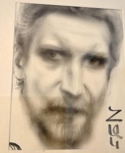 Этот Борин портрет нарисовал армянский художник на Арбате незадолго до отъезда. Можно поспорить насчёт сходства, но интенсивность взгляда художник безусловно передал. Думаю, что Боря - уголовник выглядел примерно так.