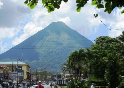 Costa Rica, Arenal volcano from La Fortuna 3