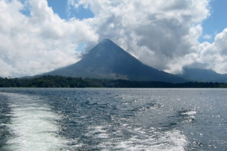 Costa Rica Arenal volcano from the lake