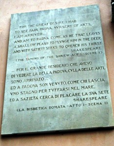 Italy, part 2, Shakespear