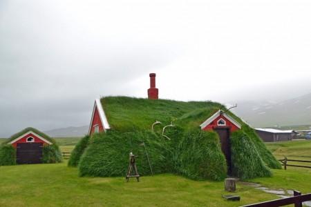 Iceland, grass house